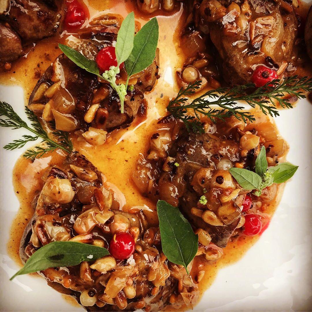 Wątróbka zporzeczkami białymi iczerwonymi:) znowu to zrobiłem:))) chicken liver with white currant and red currant:…