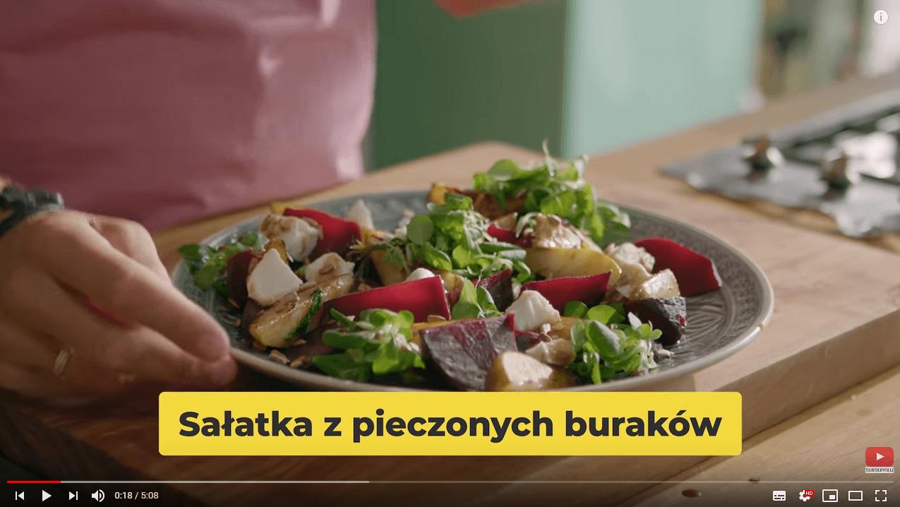 SAŁATKA ZPIECZONYCH BURAKÓW ZBRYNDZĄ | Karol Okrasa & Kuchnia Lidla
