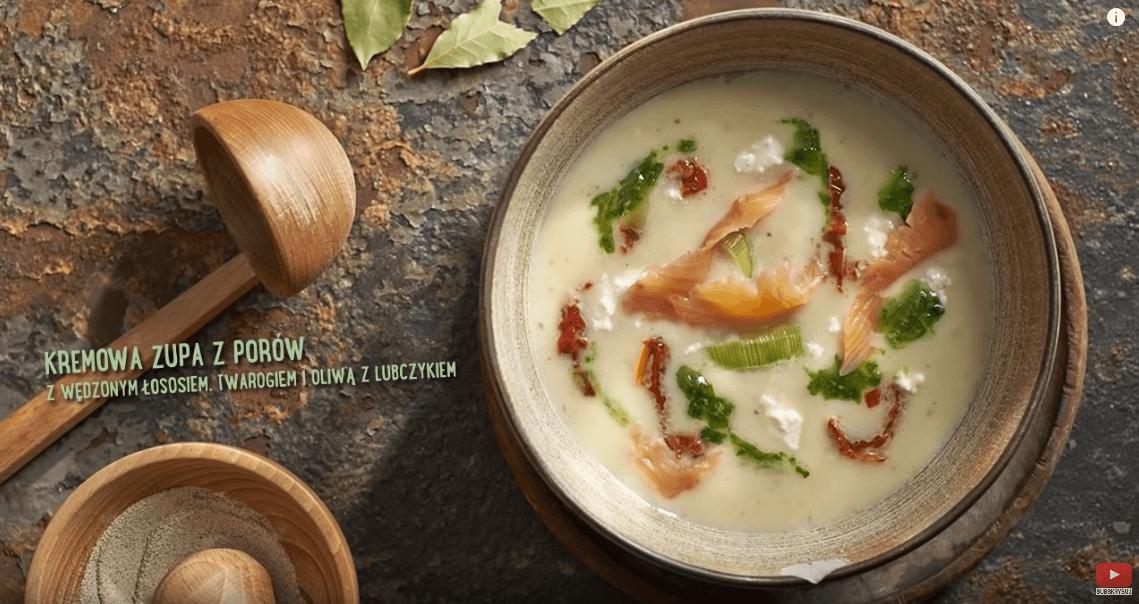 Zupa zporów zwędzonym łososiem – Karol Okrasa – Przepisy Kuchni Lidla