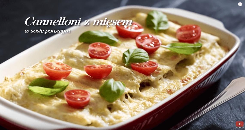 Włoskie cannelloni zmięsem wsosie porowym – Karol Okrasa – Przepisy Kuchni Lidla