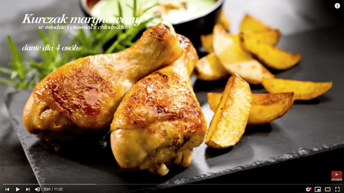 Kurczak marynowany wmiodzie zchłodnikiem iziemniaczkami – Karol Okrasa – Przepisy Kuchni Lidla