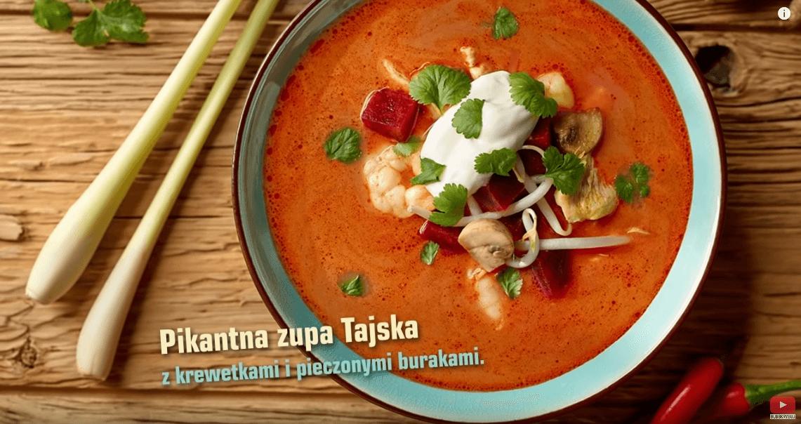 Pikantna zupa tajska zkrewetkami – Karol Okrasa – Przepisy Kuchni Lidla