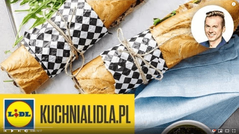 Megakanapka zmarynowanym schabem ipesto zrukoli – Karol Okrasa – Przepisy Kuchni Lidla