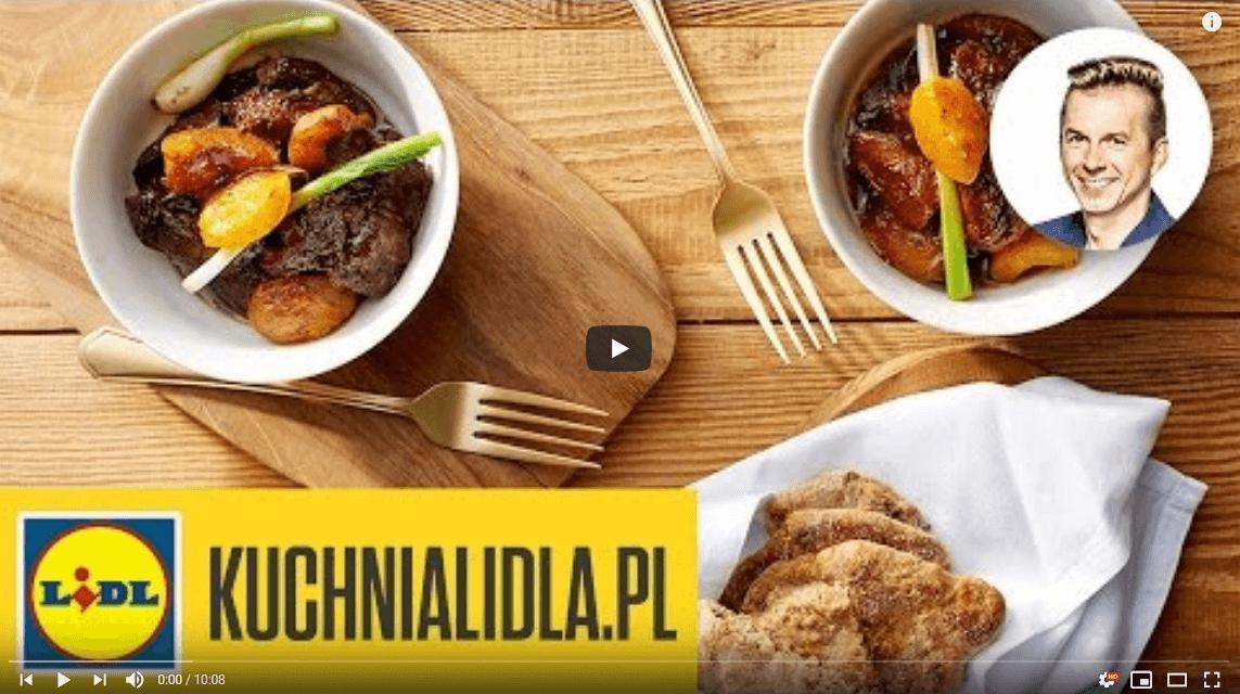 Wątróbki drobiowe ztruskawkami, morelami iplackami – Karol Okrasa – Przepisy Kuchni Lidla