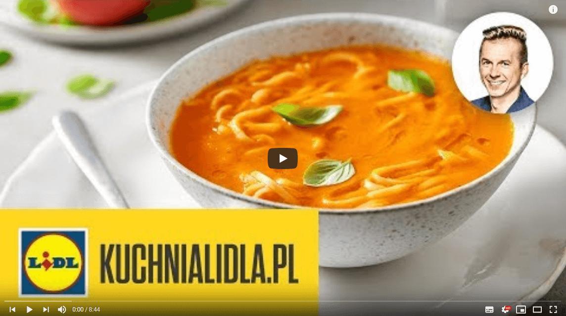 ZUPA POMIDOROWA ZDOMOWYM MAKARONEM 🍅 | Karol Okrasa & Kuchnia Lidla