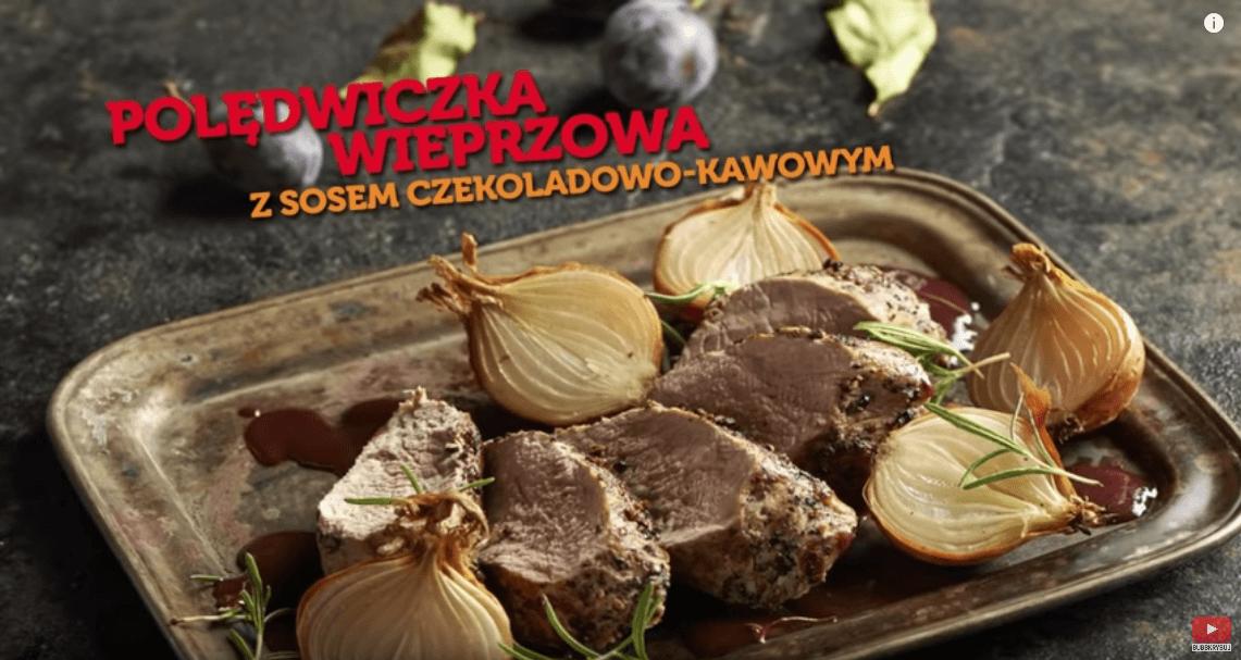Polędwiczka wieprzowa wsosie czekoladowym zgorgonzolą – Karol Okrasa – Przepisy Kuchni Lidla