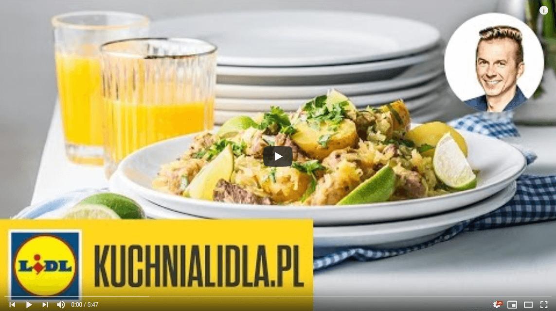 Szynka wkapuście curry – Karol Okrasa – przepisy Kuchni Lidla