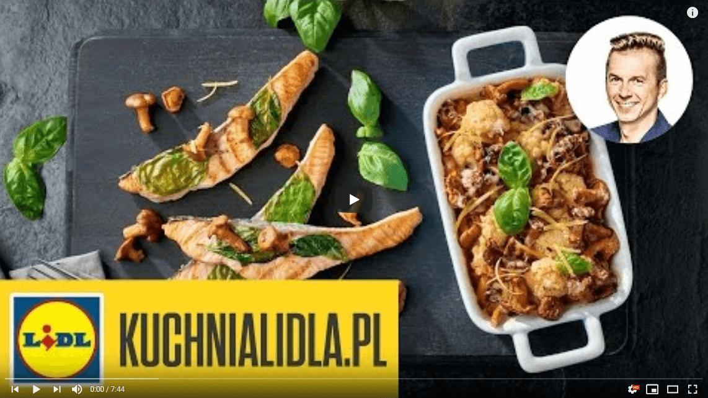 Łosoś smażony zzapiekanką zkalafiora iserem cheddar – Karol Okrasa – Przepisy Kuchni Lidla