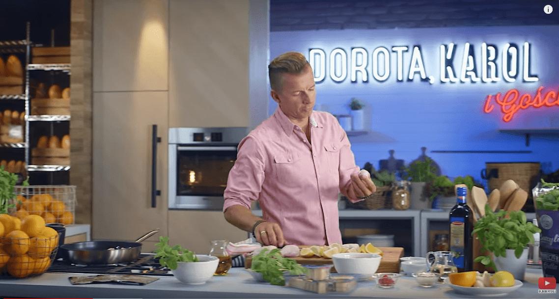 Pieczony kurczak zmusem zbakłażana ipesto – Karol Okrasa – Przepisy Kuchni Lidla
