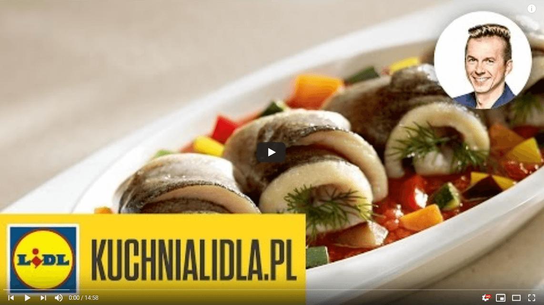 Delikatny pstrąg zduszonymi warzywami – Karol Okrasa – Przepisy Kuchni Lidla