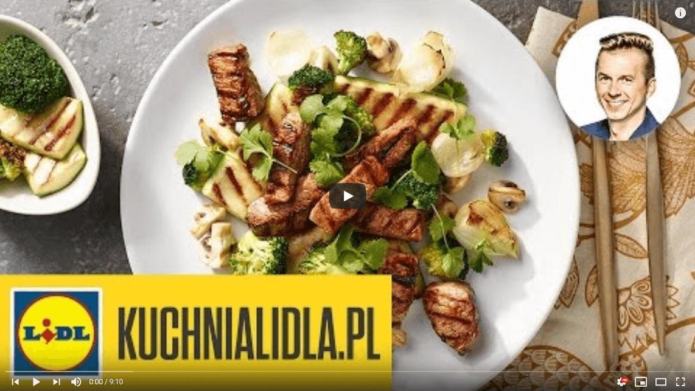 Polędwiczki wsosie miodowym zgrillowanymi warzywami – Karol Okrasa – Przepisy Kuchni Lidla