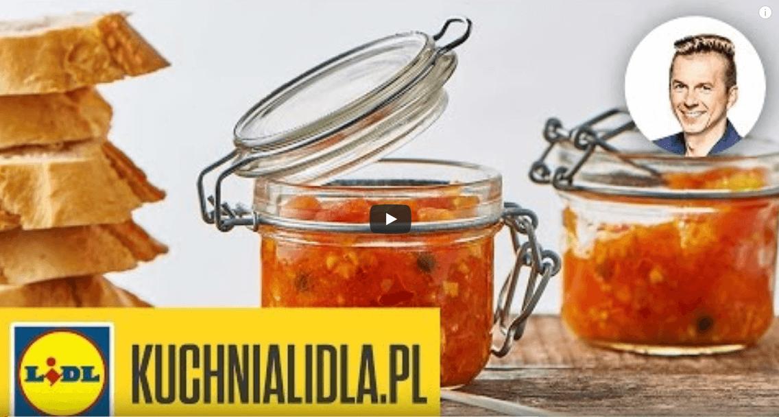 Konfitura zpomidorów zcurry – Karol Okrasa – przepisy Kuchni Lidla