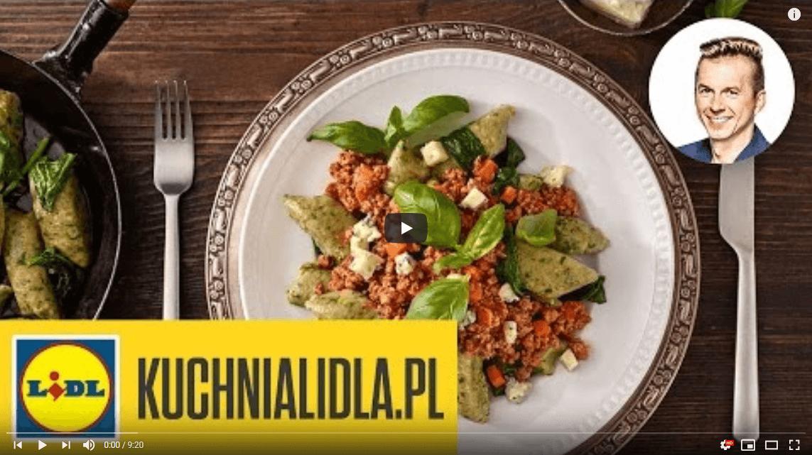 Kopytka gryczane zdelikatnym bolognese – Karol Okrasa – Przepisy Kuchni Lidla