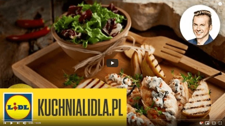 Grillowany indyk zpieczoną gruszką iserem pleśniowym – Karol Okrasa – Przepisy Kuchni Lidla