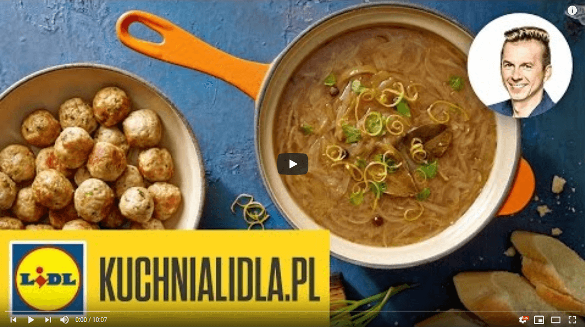 Zupa cebulowa zpulpecikami – Karol Okrasa – przepisy Kuchni Lidla