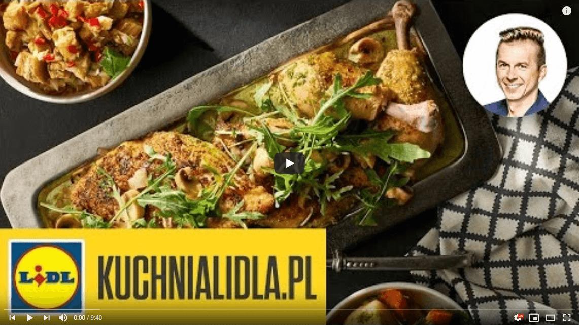 Kurczak duszony wpesto orzechowym zsalsą zbakłażana – Karol Okrasa – Przepisy Kuchni Lidla