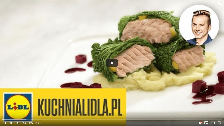 Łosoś zglazurowanym buraczkiem ichrzanowym puree – Karol Okrasa – Przepisy Kuchni Lidla
