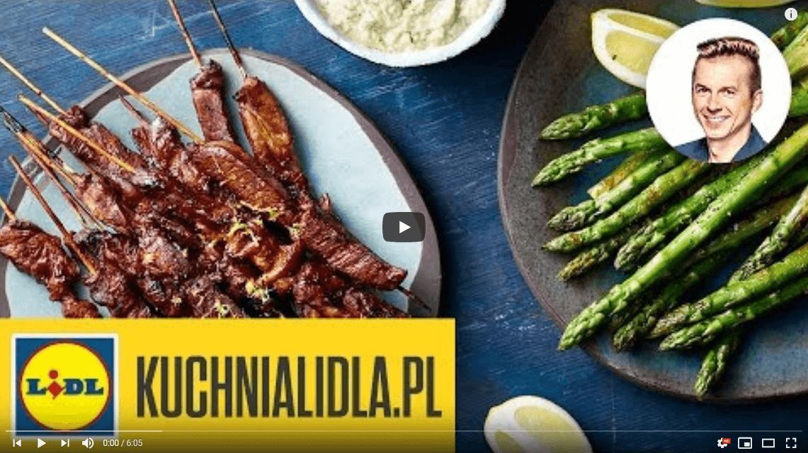 Soczyste grillowane szaszłyki zkarkówki ze szparagami – Karol Okrasa – Przepisy Kuchni Lidla