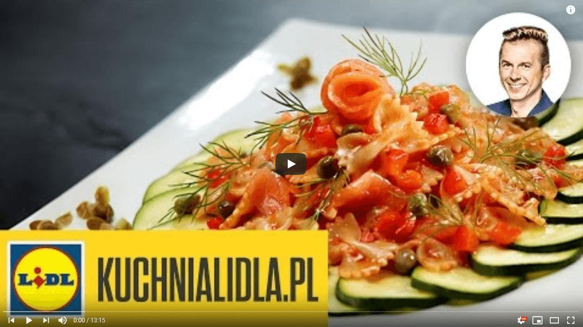 Makaron wkremowym sosie złososia wędzonego – Karol Okrasa – Przepisy Kuchni Lidla