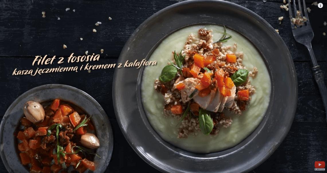 Łosoś zkaszą ikremem zkalafiora – Karol Okrasa – Przepisy Kuchni Lidla