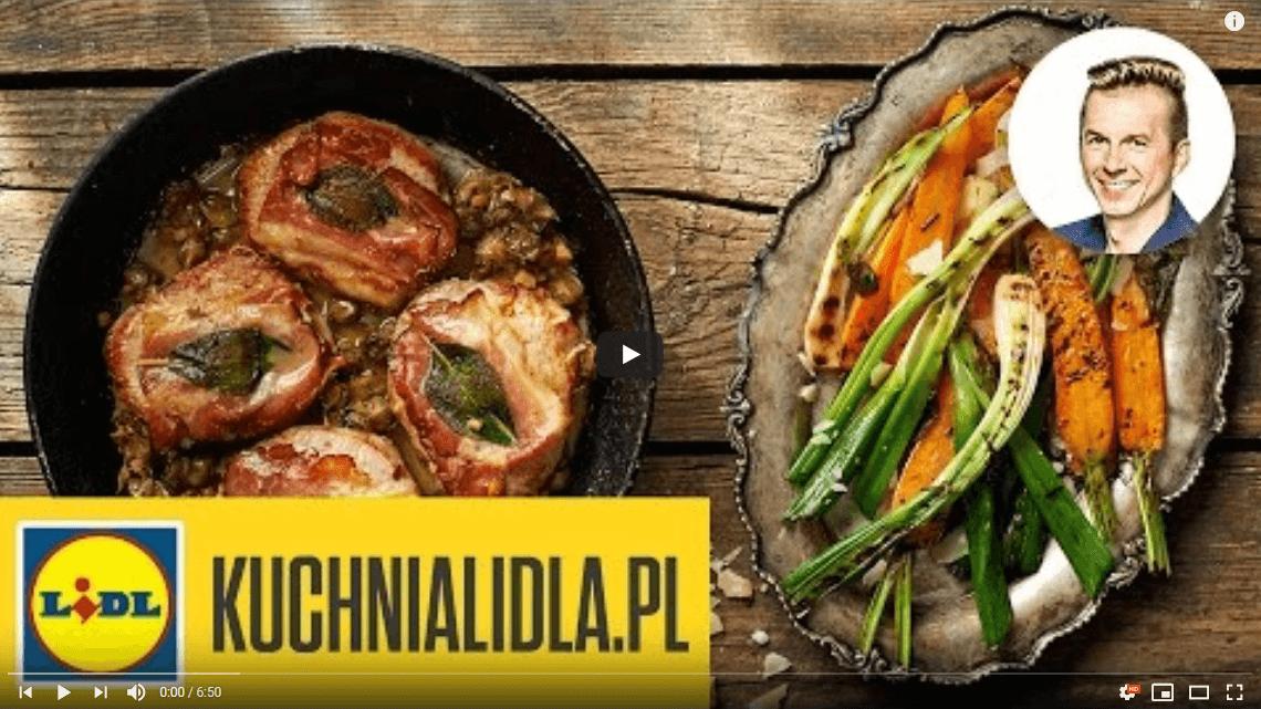 Saltimbocca wsosie kaparowym zgrillowaną marchewką – Karol Okrasa – Przepisy Kuchni Lidla