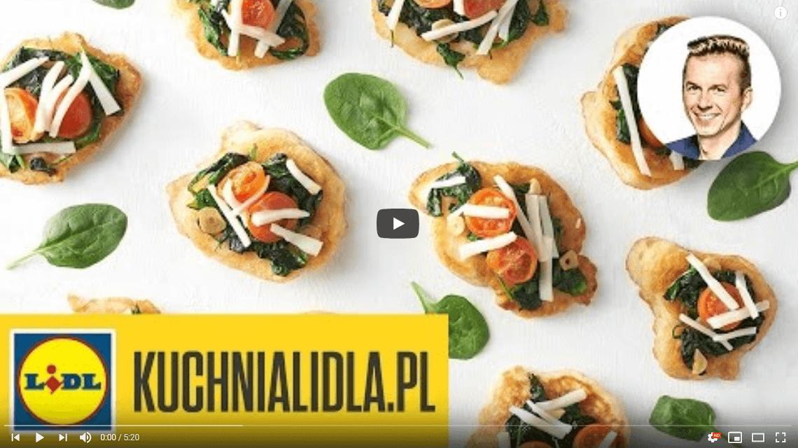 Racuchy ze szpinakiem ikozim serem – Karol Okrasa – Przepisy Kuchni Lidla