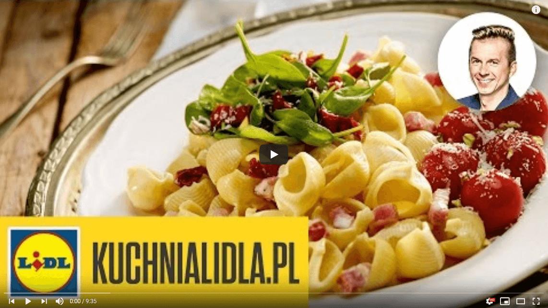 Makaron muszelki zsosem alla carbonara – Karol Okrasa – Przepisy Kuchni Lidla